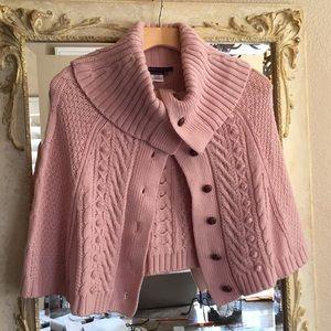 BCBGMAXAZRIA wool knit shoulder cape. One size